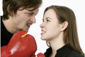 man woman boxing